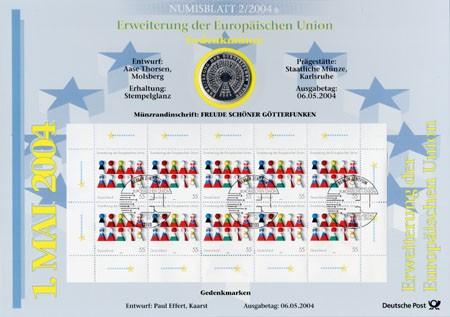BRD Numisblatt 2/2004 Erweiterung Europäische Union