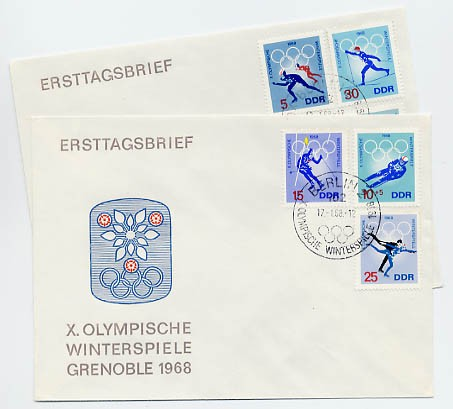 DDR FDC MiNr. 1335/40 Olympiade Grenoble