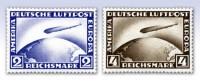 """Dt. Reich MiNr. 423/24 ungebraucht Luftschiff """"Graf Zeppelin LZ 127"""""""
