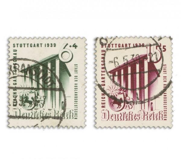 Dt. Reich MiNr. 692/93 o Gartenschau in Stuttgart 1939