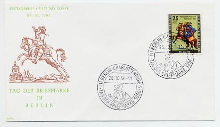 Berlin FDC Mi-Nr. 158 Tag der Briefmarke 1956