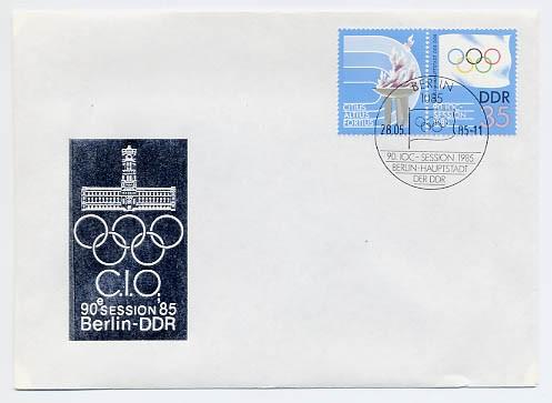 DDR FDC MiNr. 2949 Zdr. IOC-Session