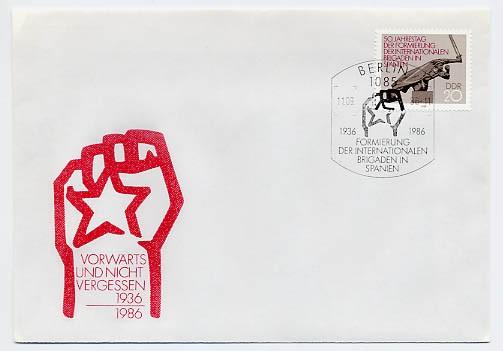 DDR FDC MiNr. 3050 Int. Brigaden in Spanien