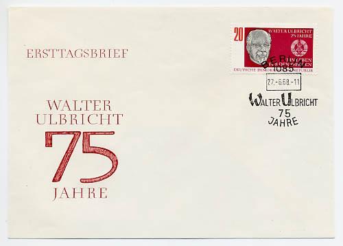 DDR FDC MiNr. 1383 75. Geb. Ulbricht