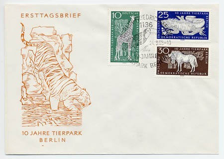 DDR FDC MiNr. 1093/95 Tierpark