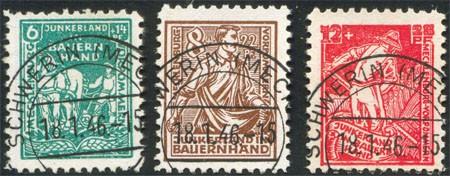 SBZ M./V. MiNr. 23/25b o Junkerland i.Bauernhand