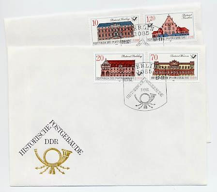 DDR FDC MiNr. 3067/70 Histor. Postgebäude