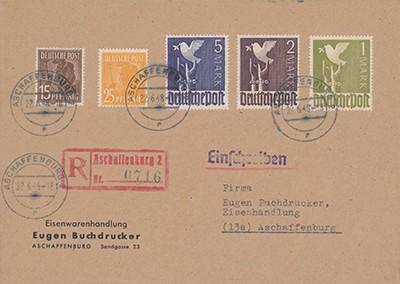 All.Bes. GA Zehnfachfrankatur-Brief