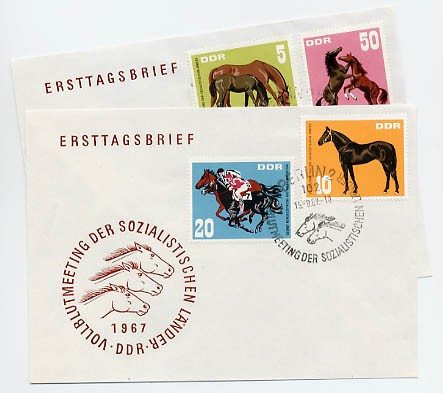 DDR FDC MiNr. 1302/05 Vollblutmeeting