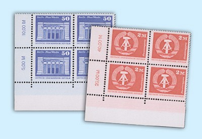 DDR MiNr. 2549-50w ** Freimarken: Aufbau in der DDR