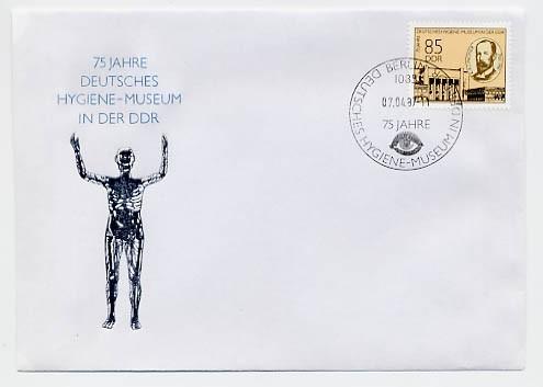 DDR FDC MiNr. 3089 75 Jahre Hygienemuseum
