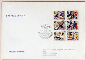 DDR FDC Klbg. MiNr. 1426/31 Gestiefelter-Kater