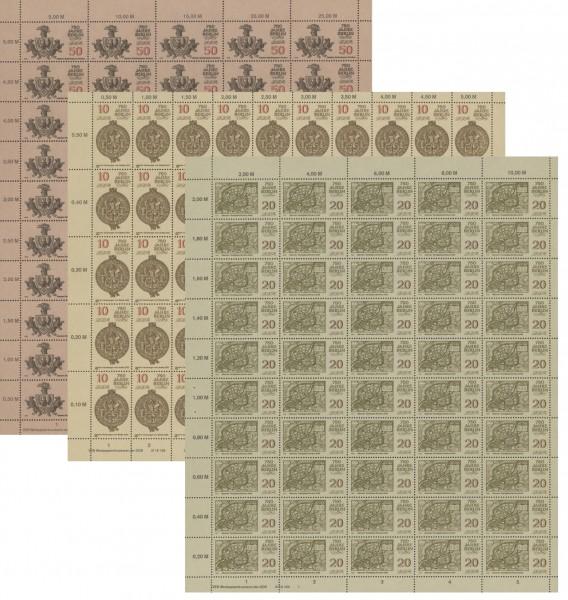 DDR Bogensatz MiNr. 3023/26 ** 750 Jahre Berlin (I), inkl. Sammelblatt