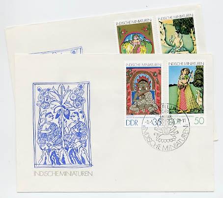 DDR FDC MiNr. 2418/21 Indische Miniaturen