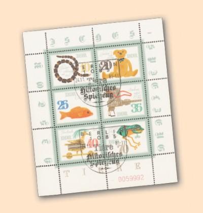 DDR Klbg. MiNr. 2661/66 o Histor. Spielzeug-Tiere