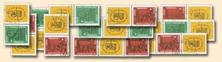 DDR Zdr.-Kombinat. MiNr. 1012/13 o Lpz. Messe 1964 (WZd 118-125,SZd 44-51)