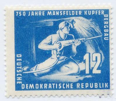 DDR MiNr. 273c ** 12Pf gepr. 750 J.Mansfelder Kupferschieferbau