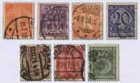 Dt. Reich Dienst MiNr. 16/22 o gepr. Dienstmarken für Preußen