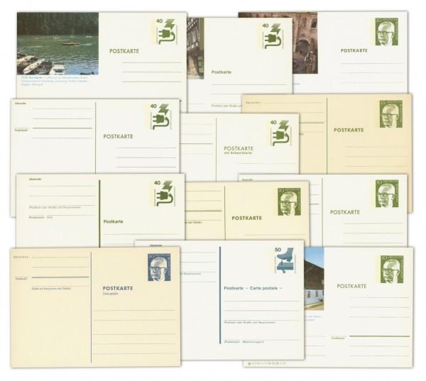 BRD 13 versch. Postkarten-Ganzsachen ** Heinemann u. Unfallverhütung