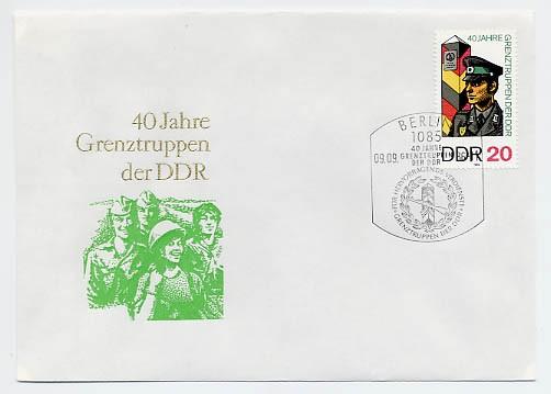 DDR FDC MiNr. 3048 40 Jahre Grenztruppen
