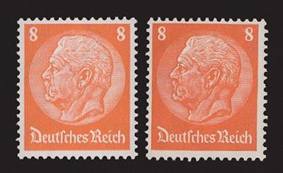 Dt. Reich MiNr. 485 I und 517 I **