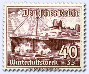 Dt. Reich MiNr. 659x ** gepr. Winterhilfswerk - Schiffe