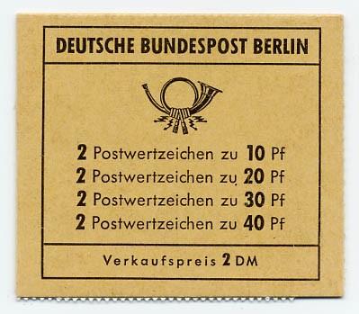 Berlin MH 8b ** Unfallverhütung, 1972 Reklame Versandstellen / Michel
