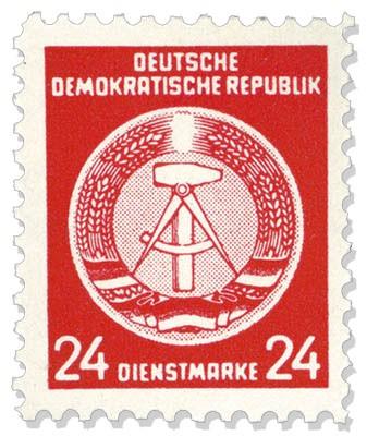 DDR Propagandafälschung MiNr. 9 ** PFÄ der DDR- Dienstmarke A 9 (24 Pf.)