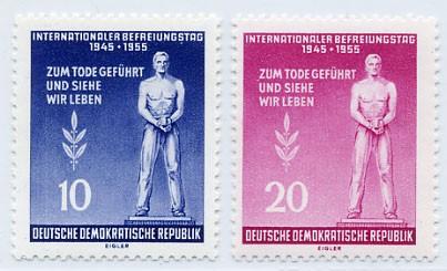 DDR MiNr. 459/60A ** Int. Tag der Befreiung