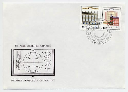 DDR FDC MiNr. 2980/81 Humboldt-Universität