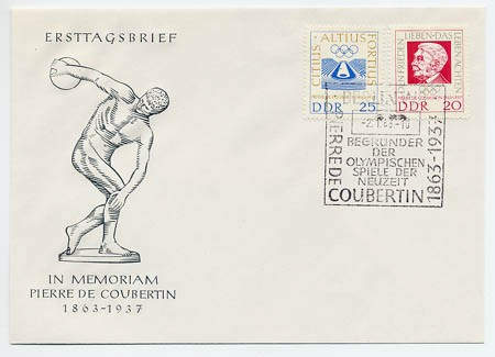 DDR FDC MiNr. 939/40 Coubertin