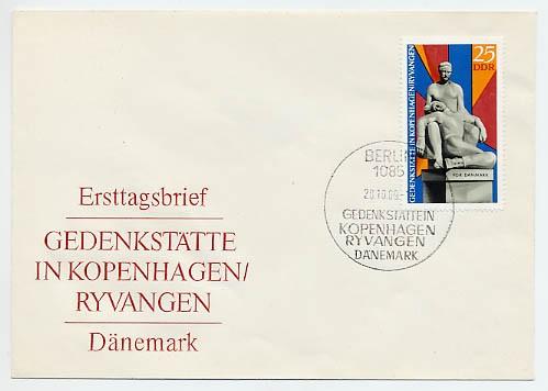DDR FDC MiNr. 1512 Gedenkst. Ryvangen