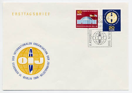 DDR FDC MiNr. 1212/13 Journalisten-Kongreß