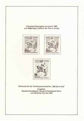 DDR Schwarzdruck MiNr. 3299 S (*) 500 J.Intern.Postverb. (aus JB 1990)
