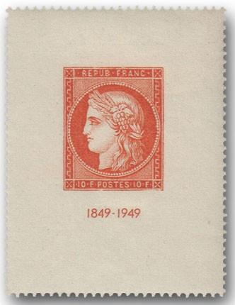 Frankreich, Bl. 4: 100 J. frz. Briefmarken **