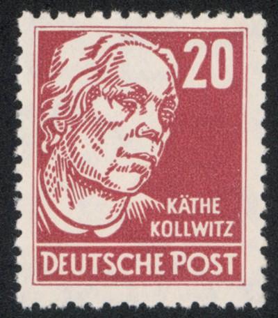 DDR MiNr. 333 va 2XI ** 20Pf Persönlichkeiten K. Kollwitz