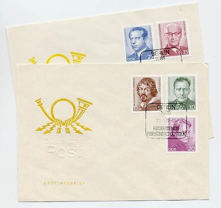 DDR FDC MiNr. 1815/19 Bed. Persönlichkeiten (I)