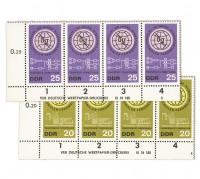 DDR MiNr. 1113/1114 DV ** 100 Jahre Fernmeldeunion