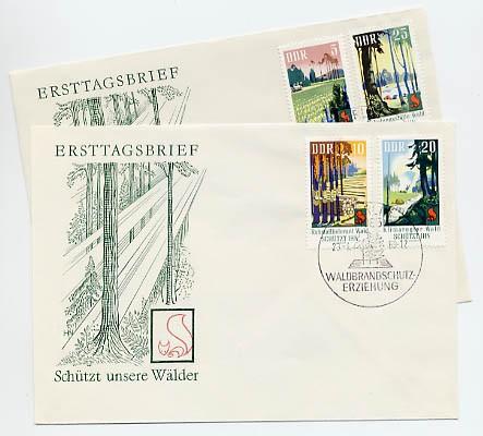 DDR FDC MiNr. 1462/65 Waldbrandschutz