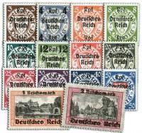 Dt. Reich MiNr. 716/29 * ungebraucht Freimarken von Danzig mit Aufdruck