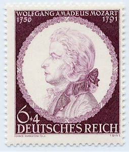 Dt. Reich MiNr. 810 ** 150. Tdstg. W.A. Mozart