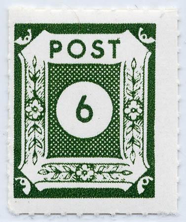 SBZ Ost-Sa. MiNr. 43BIIa ** Ziffernserie 6 Pf schwarzgelbgrün