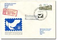 DDR Einschreib-Brief 3078 o ( FK)