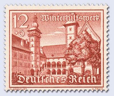 Dt. Reich MiNr. 735x ** Bauwerke 1939, x-Gummierung