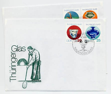 DDR FDC MiNr. 2835/38 Thüringer Glas