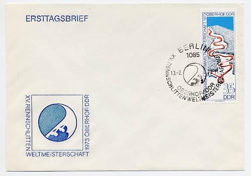 DDR FDC MiNr. 1831 Rennrodel-WM