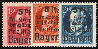 Bayern MiNr. 171/73 A ** Kriegsbeschädigte / Pf / gezähnt