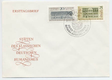DDR FDC MiNr. 1329/30 Stätten d. Humanismus
