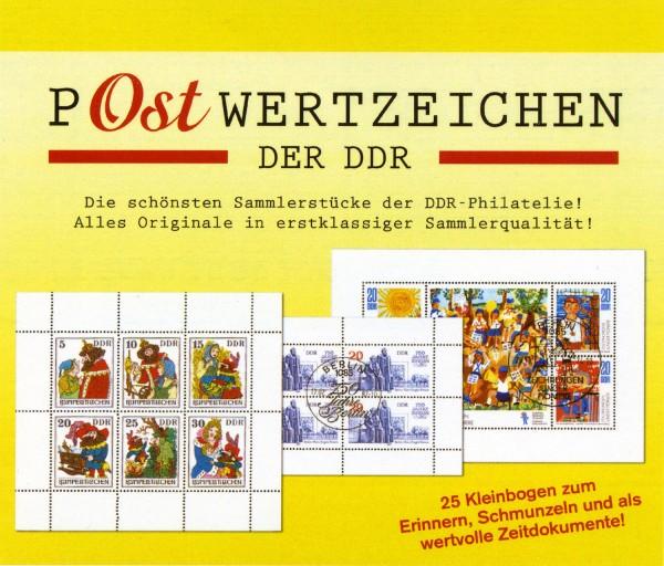 P-Ostwertzeichen der DDR 25 verschiedene Kleinbogen