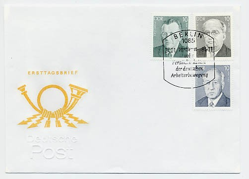 DDR FDC MiNr. 2849/51 Persönlichkeiten
